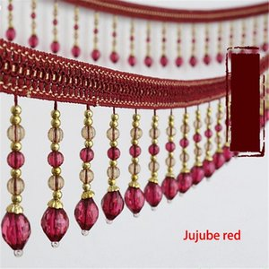 12Yards Lot Crystal Beads Dentelle Tassel Ruban Ruban Garning Ball Englouties Pour Diy Couture Tissu Vêtements Vêtements Vêtements ACCESSOIRES H JLLLXA