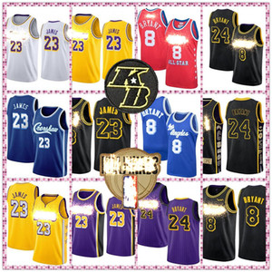 LeBron James 23 6 Basketball Jersey Los Angeles Grizzlie Bryant Shaquille 8 Earvin Johnson 32 O'Neal Anthony Kyle Davis Kuzma