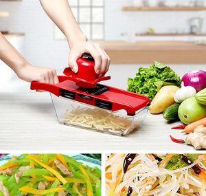 Slicer Mandoline Mandoline Mandoline Cutter de légumes avec lame en acier inoxydable Peeleuse de pommes de terre manuelle Carotte Grat BBYSXV YH_PACK