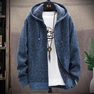 Mens Sweater New style cotton jacket mens jacket Korean winter slim thickening plus velvet casual trend top