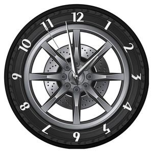 Car Service Repair Garage Owner Tire Wheel Custom Car Auto Wall Clock Watch