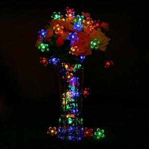 Solar String Lights 20 50 100 200led Blossom Waterproof Outdoor Decoration Lighting Fariy Christmas Lights Wedding Party Garden sqcdtj