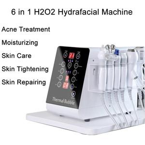 6in1 Hydra microdermabrasion Hydro dermabrasion Soins de la peau eau Peeling machine visage HydraFacial Salon de beauté Équipement 6 Poignées