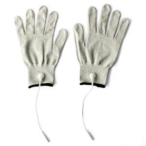 Проводящие волокна Электрод Наколенники Массажные TENS перчатки запястья подушечки с кабелями адаптер использования для TENS Unit FDA Очищенные