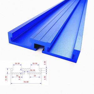 600/800 mm de la aleación de aluminio T-Track carpintería ranura en T Mitre Track 45/70 mm Altura del canal inclinado con la escala / Mitre Track Stop / G Clamp 77lC #
