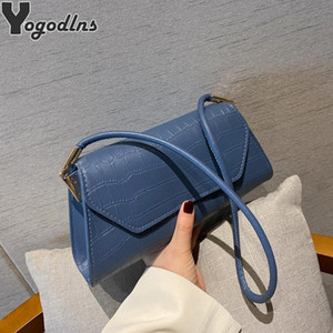Retro Alligator Pattern Women Baguette Handbag PU Leather Shoulder Totes Bag Female Portable Classic Clutch Underarm Purse Bag
