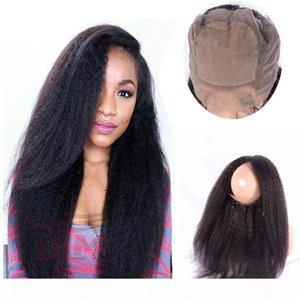 360 Silk Base-Spitze-Stirn peruanische Jungfrau-Haar Natürlicher Haarstrich verworrene gerade Silk Basis 360 Lace Band Frontal mit dem Babyhaar