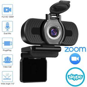 Cámara Cámara USB HD 1080P computadora con cubierta de polvo Videoconferencia Webcast Para webcam webcam de alta definición completa de 1080p camara web para PC