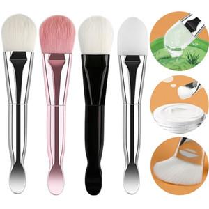Double-headed trucco Foundation Brush Maschera della spazzola con il cucchiaio di scavo in modo morbido Maschera per il viso bellezza trucco strumenti