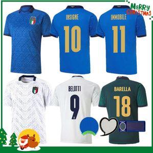 2020 2021 Maillot de football Italie 20 21 maison loin Jorginho EL Shaarawy BONUCCI INSIGNE BERNARDESCHI hommes adultes + enfants kit FOOTBALL