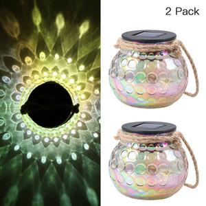 Outdoor impermeabile in vetro pavone palle luci appeso a LED lanterna solare lavandino lampada leggera per giardino patio cortile cortile percorso prato