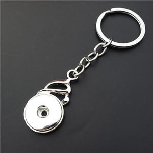 12pcs / lot Art und Weise Männer Legierung einfache noosa Stücke Metall Ingwer Schnapp 18mm Taste rastet Schlüsselanhänger für Männer Schmuck Schlüsselbund