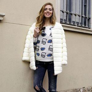 Winter Luxury Faux Fur Coat Office Lady Female Faux Fur Jacket Women Fake Coats plus size 3XL Coat Clothes