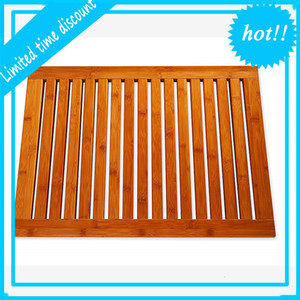 2019 New Style 100%Natural Bamboo Bath non slip Bathroom Floor Shower Mat