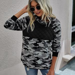 Felpe da donna Fashion Solid Leopard Stampa comoda calda Peluche Felpa a maniche lunghe PULLOVER TOP Felpa con cappuccio Donna Abbigliamento