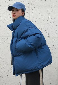 Winter Puffer Jackets Womens Casual Parkas Solid Color Women Down Cotton Padded Coats Long Sleeve Womens Outerwear Wholesale