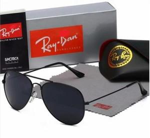 2020 Flieger Ray Sonnenbrille Weinlese-Pilot Band UV400 Schutz der Frauen Männer Männer Bans Frauen Sun-Glas mit dem Kasten 3025
