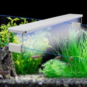 10 W 15 W 20 W 25 W LED Balık Tankı Işık Beyaz + Mavi Klips Akvaryum Lambası Sucul Bitki Işık Büyümek Su Geçirmez LED Bar Işık Tüp Ampul Y200922