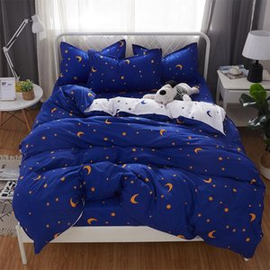Star Moon Printed Purple Bed Cover Set Kids Dot Duvet Cover Adult Child Bed Sheets And Pillowcases Comforter Bedding Set