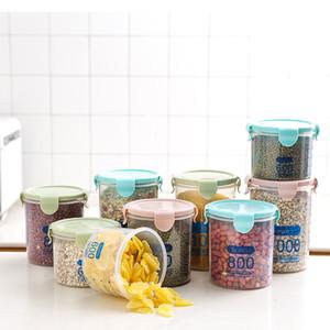 600 800 1000ml Food Preservation Container Coarse Cereals Grains Jar Scale Bottle Fresh Pot Kitchen Storage Cans Sealing Box VTKY2335