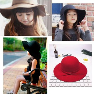 Emmababy Cute Fashion Baby Girls Floppy Brim coton large Bowler Hat plage Summer Sun Cap Princesse 2-8Y