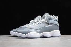Nike Air Jordan 11 shoes Gris 322992-015 hommes 6 anneaux de basket-ball Wolf Pack Silver Rare Vintage Champion Chaussures Blanc Bleu garçons Mode de sport Chaussures de sport