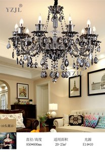 New American retro chandelier living room dining room bedroom crystal lamp chandelier  atmospheric villa lighting pendant chandelier