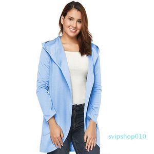 Long Trench Coat Women Casual Coat Sweatshirts Ladies Mama Winter Fall Elega Retro Sports Clothing Pockets Coats