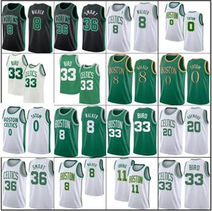 Jayson 0 Tatum Jersey Larry 33 Bird Kemba 8 Walker BostonCelticsJersey Jaylen 7 Brown Marcus 36 Baloncesto inteligente Al 42 Horford Jerseys Hombres