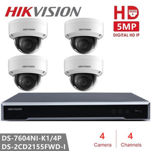 Hikvision H.265 4CH NVR Kit Video Surveillance P2P 5MP Indoor Outdoor Dome Camera IR Night Vision IP Security Camera CCTV System