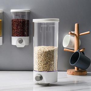 Grain Storage Box 1000/1500 ML Настенный Cereal Контейнер для хранения Кухня Cereal Rice Bean Sealed Can Овсяная Диспенсер