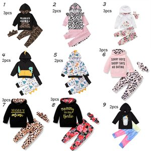 9 Style baby Kids Clothing Sets Girl girl Flowers Casual Hoodies kids Sets long Sleeve Hoodies pant headband set M3217