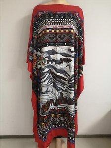 Dress Length:130cm Bust:130cm 2020 New Fashion dresses Bazin Print Dashiki Women Long Blouse Yomadou Color Pattern oversize