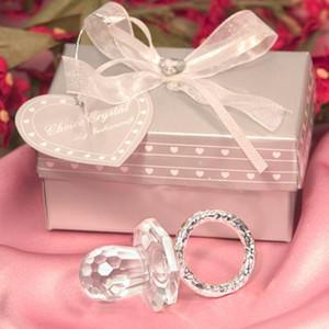 Party Hool 12 Шт. / Лот Детский Душ Форс Первый день рождения Подарки для гостей Крещение Сувенир Симпатичные Crystal Pacifier