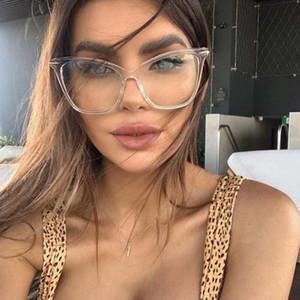 2020 Nuevas mujeres Blue Light Blocking Myopia Glasses Maldito Medio Marco Computadora de mujer Glasses Dioptric NX