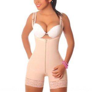 Oosc9 zipper комбинезон женских брюшных брюк высокий эластичный striewear shapeewearmesh body формируя одежда сетка тела формирования тела костюм