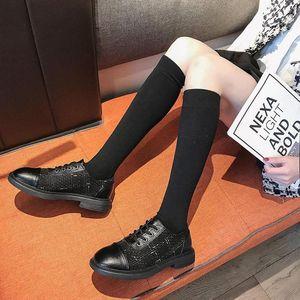 2020 spring plus velvet single shoes women casual shoes sweet explosion models single women flat round toe