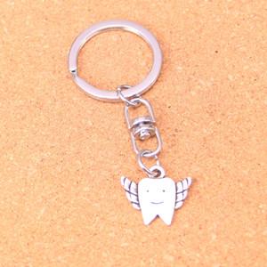 Fashion Keychain 20*18mm tooth fairy teeth Pendants DIY Jewelry Car Key Chain Ring Holder Souvenir For Gift
