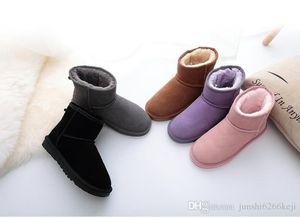 2021 Высокое качество WGG женские классические высокие сапоги женские сапоги ботинок ботинок снежные сапоги кожаные загрузки сертификат пыли пакет