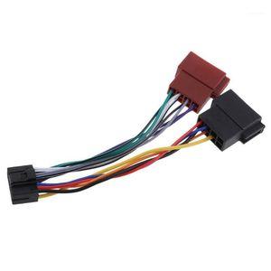 Adaptador de arnés de alambre de radio estéreo de 16 pines para Kenwood / JVC ISO Conector de cable de cable ISO Instalación fácil1