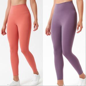 Pantaloni da donna a colori solidi Pantaloni a vita alta Stilista Leggings Gym Vestiti da palestra Pantaloni da donna Leggings Leggings Lady Elastic Dancing Body Body