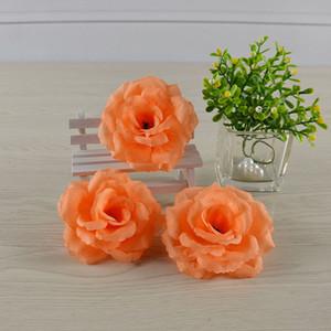 8cm fleurs artificielles chroming rose fleur fleur style fleur haute qualité soie chiffon rose tête de mariage décoration faux cadeau de fleur