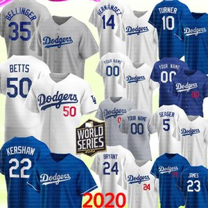 2020 Dodgers 50 Mookie Betts Cody Bellinger Jersey Los Angeles Clayton Kershaw Enrique Hernandez Justin Turner Corey Seager Piazza BRYANT 35
