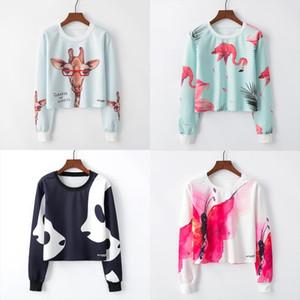 Artguy Women Hoodies Sweatshirts Girls Long Sleeve Graphic Printed Crop Top Short Blouse Pullover Hoodie Cropped Sweatshirt