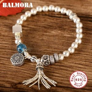 Balmora Original Pure 925 Sterling Beads Pulseras para mujer Barcelones Pulseras 18 cm Cadena Daily Jewelry Gift1