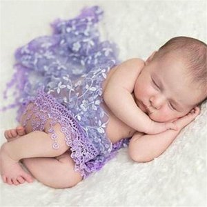Lace newborn photography props Baby Kids Maternity Photo Props Quilt With Headband New Fashion photo #3F