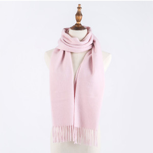 20Unisex Winter Scarf Cashmere Scarfs Women Men Shawls Scarves With Roll Tube Box