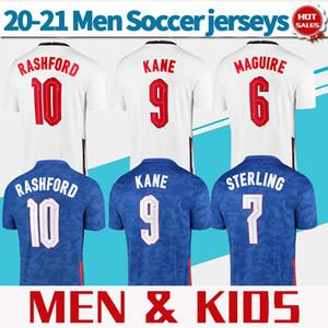 # 9 Kane # 10 Roshford Futebol Jerseys Home Branco 20/21 Equipe Nation Away Homens Azuis Camisas de Futebol Personalizado