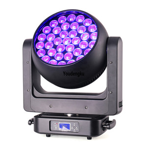 4pcs Newest DJ Disco Stage Light 37 x 20w 4-in-1 RGBW zoom lyre dmx led beam bee eye moving head wash light