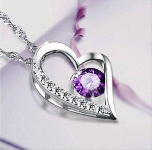 L'amore Collana di cristallo austriaca di diamanti di cristallo Normativa collana Classe Elementi donne di lusso gioielli